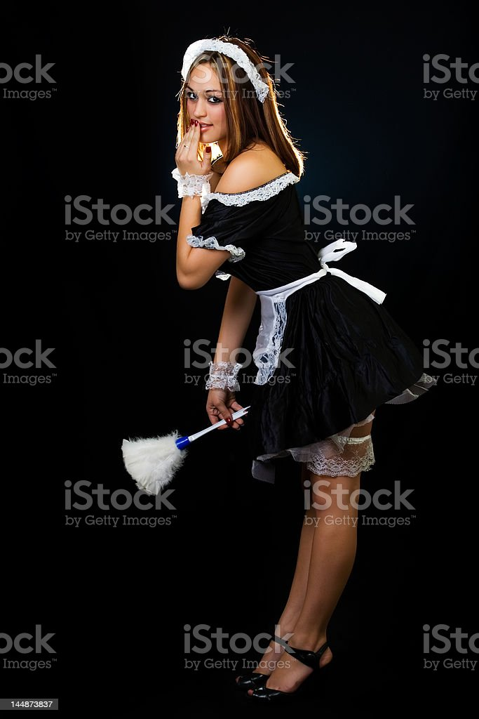 French Maid royalty-free stock photo