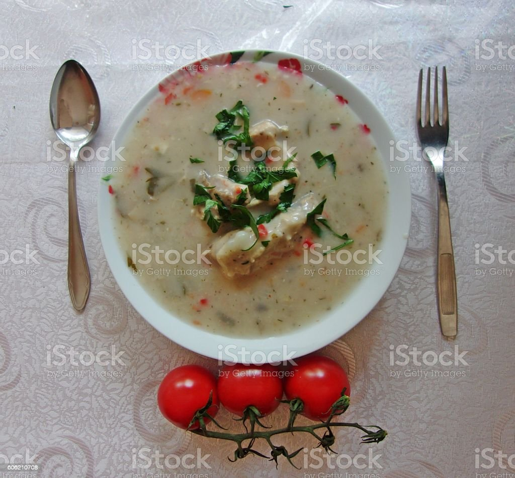 French main course fricassee stock photo