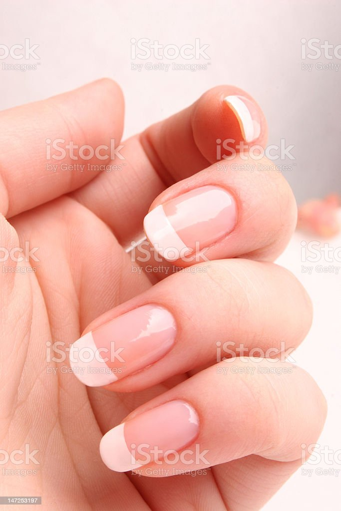 French manicure 01 stock photo