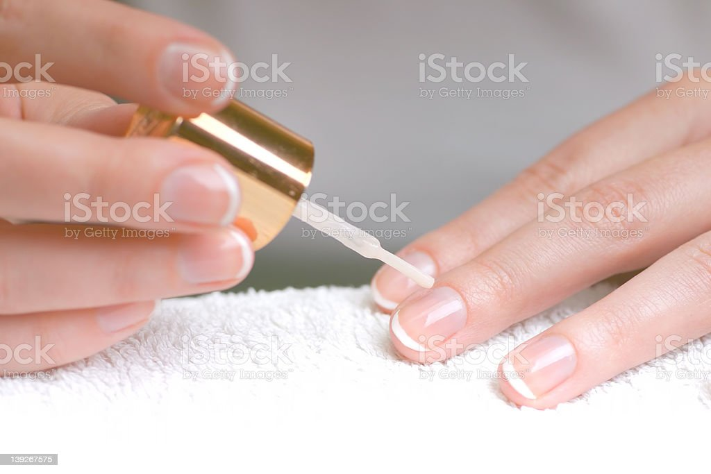 French Manicure 2 royalty-free stock photo