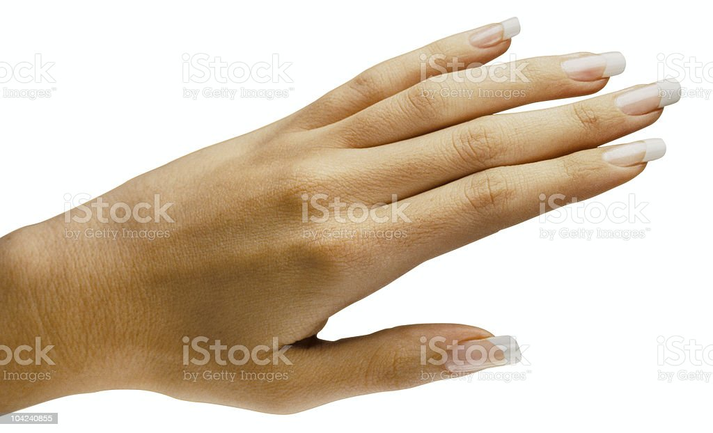 French Manicure on white stock photo