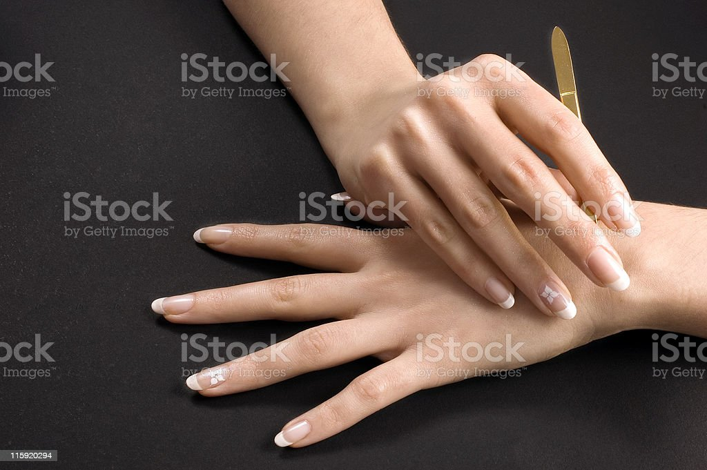 French manicure foto stock royalty-free