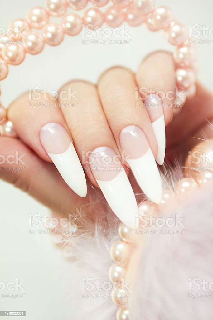 French Manicure royalty-free stock photo
