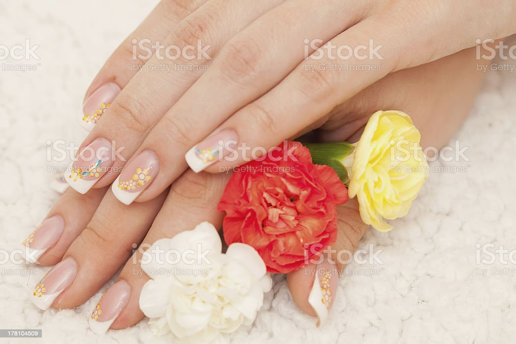 French manicure. royalty-free stock photo