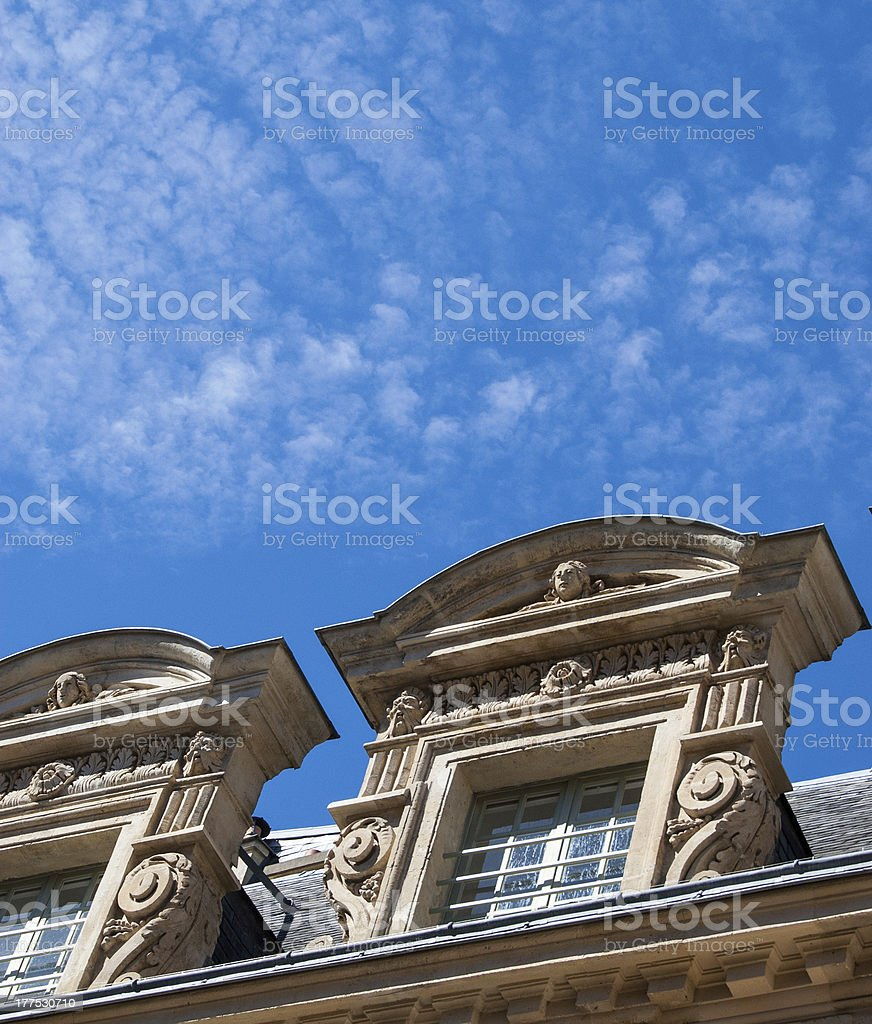 French mansard roof royalty-free stock photo