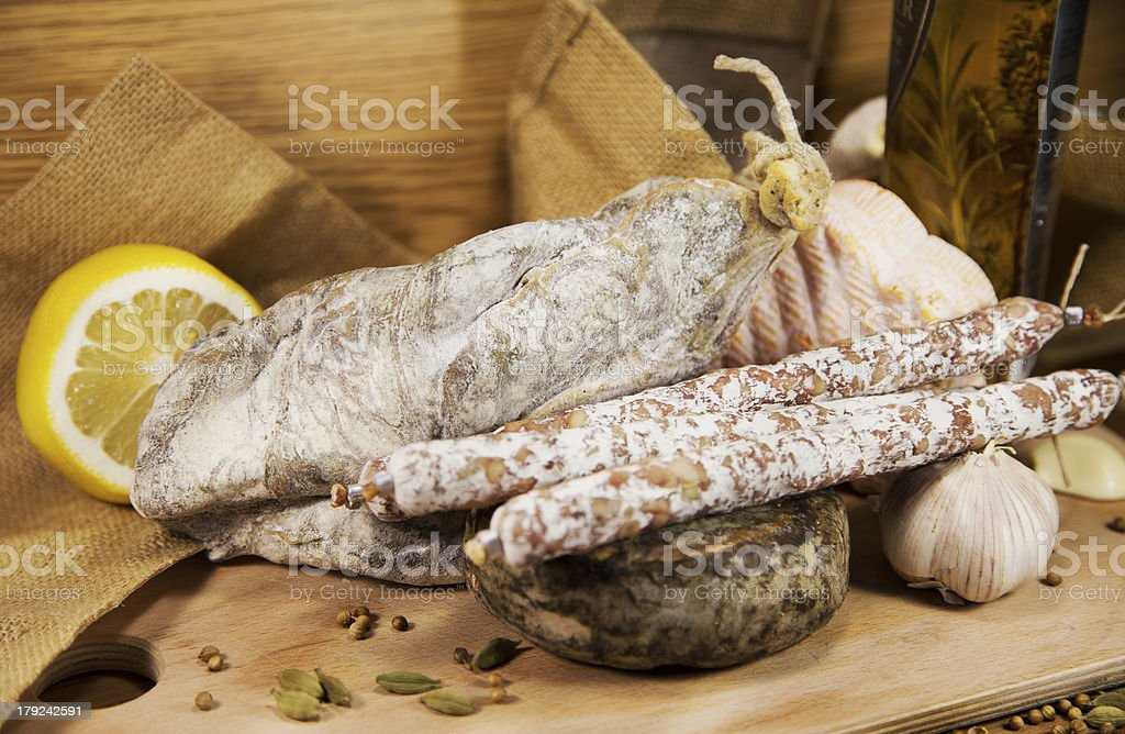 French meat assorted royalty-free stock photo