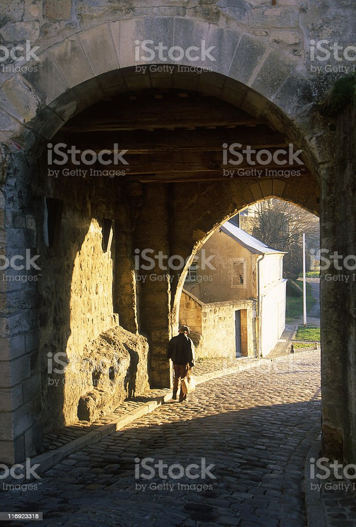 French Medieval Village royalty-free stock photo
