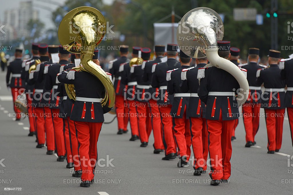 French military band stock photo