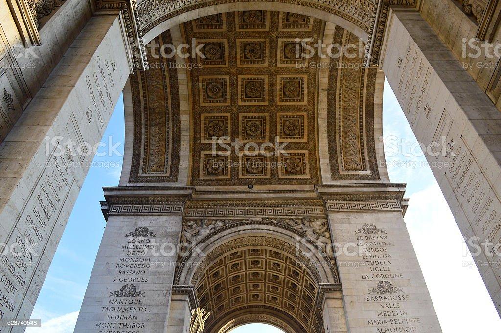 French Military Heros Arc de Triomphe stock photo
