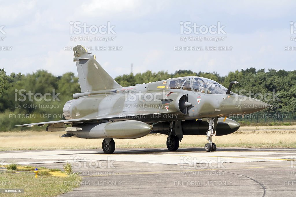 French Mirage fighterjet stock photo