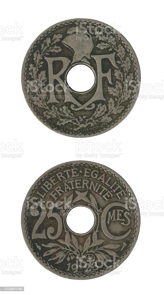 French money (1923) royalty-free stock photo