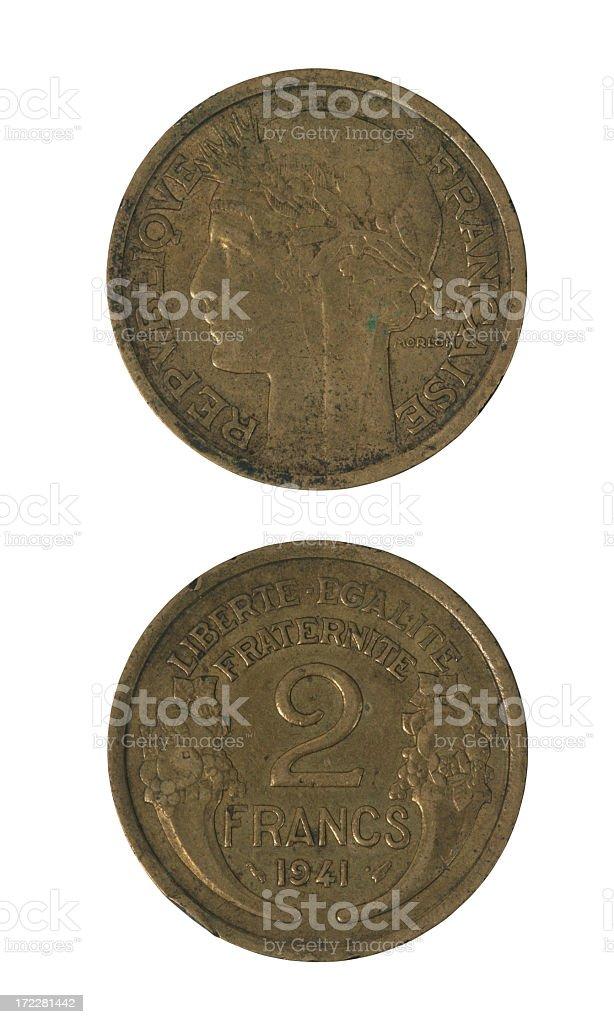 French money year 1941 royalty-free stock photo