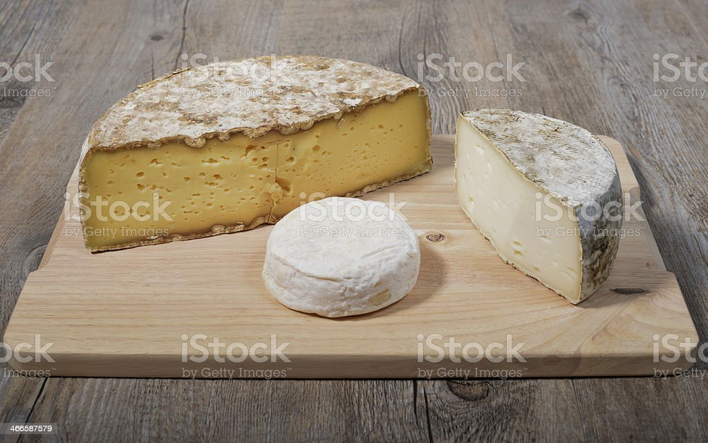 french mountain  cheese platter royalty-free stock photo