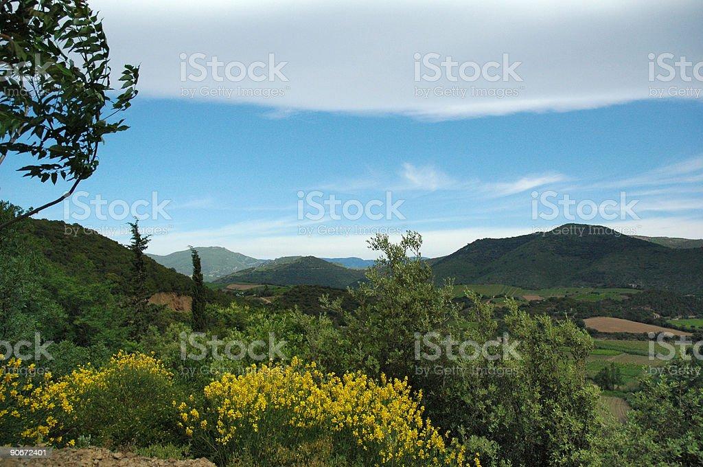 French mountain landscape stock photo