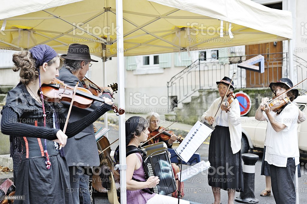 French musicians in the gypsy style stock photo