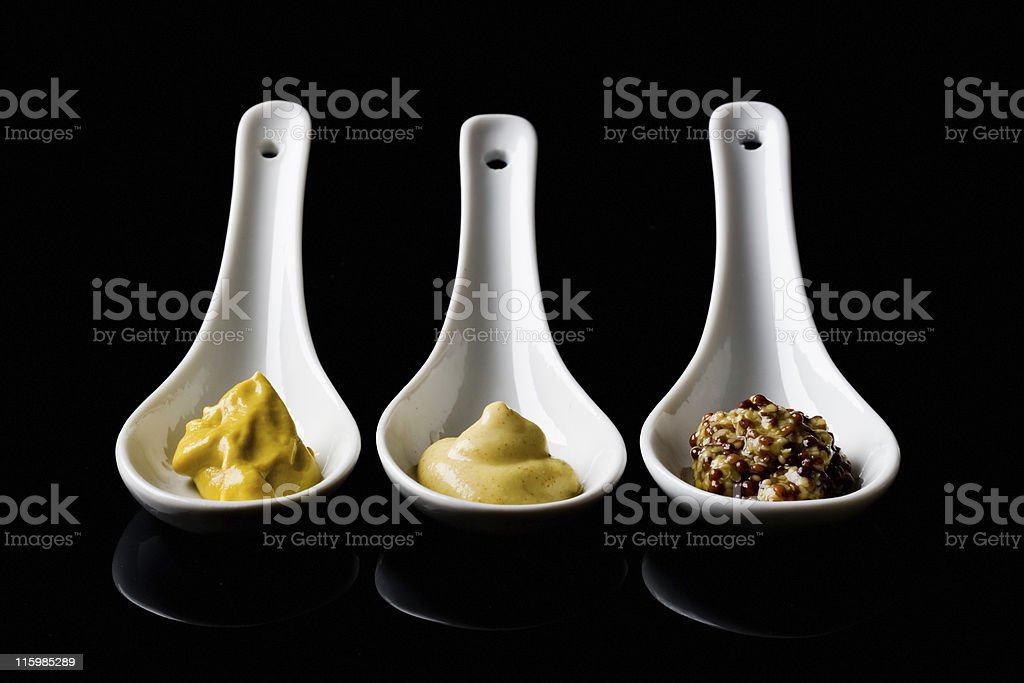 French mustards stock photo