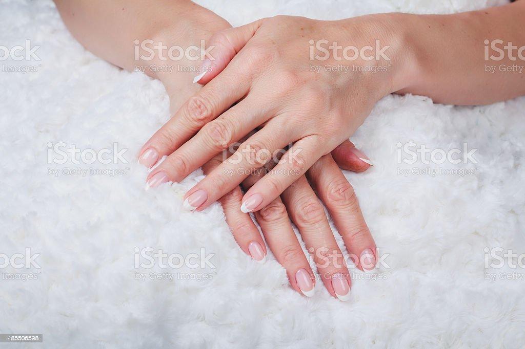 French nail art stock photo