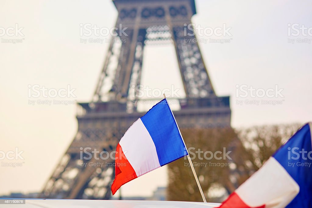 French national flag stock photo