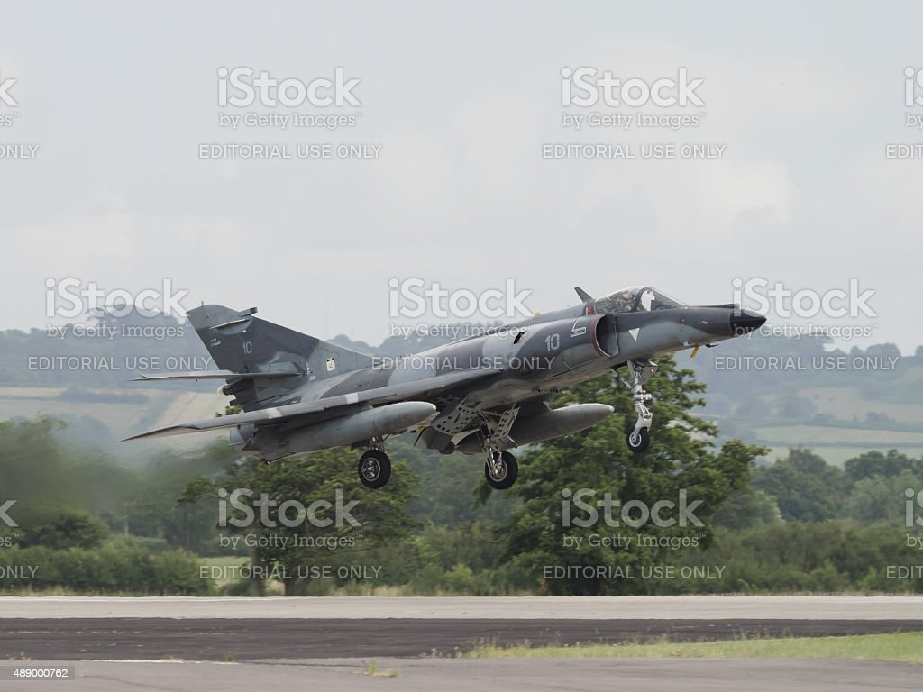 French Navy Etendard fighter stock photo