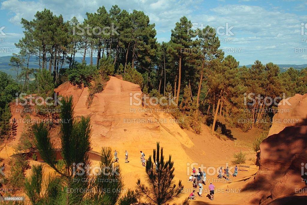 French ochre quarry stock photo