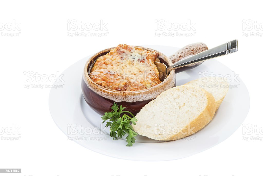 French onion soup stock photo