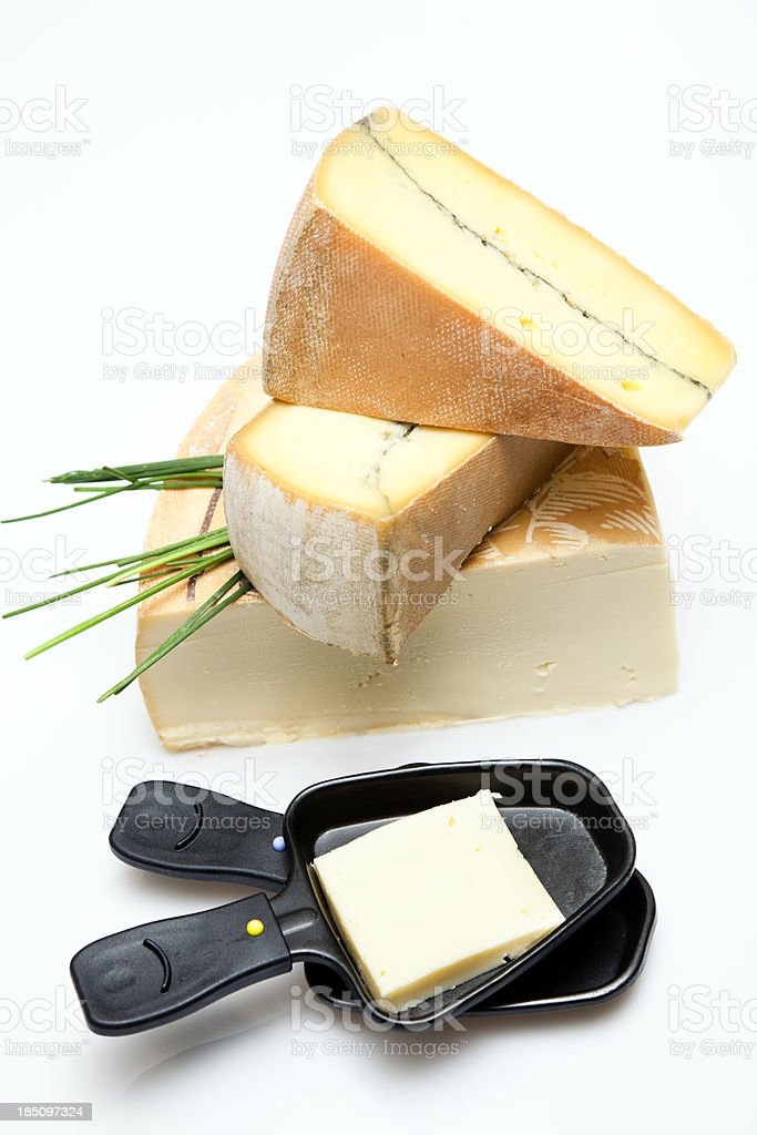 French or swiss raclette stock photo