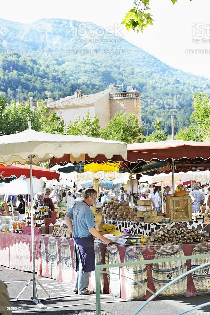 French outdoor market in summer royalty-free stock photo