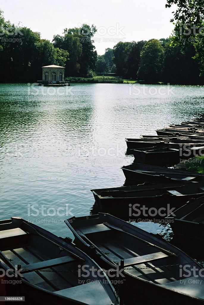 French palatial pond royalty-free stock photo