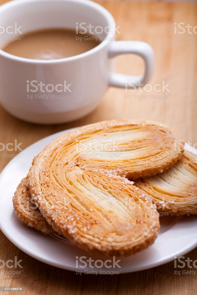 French Palmier Cookies stock photo