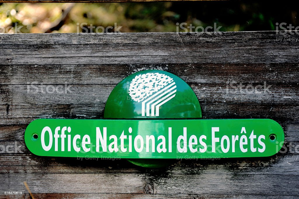 French panel of the ONF stock photo