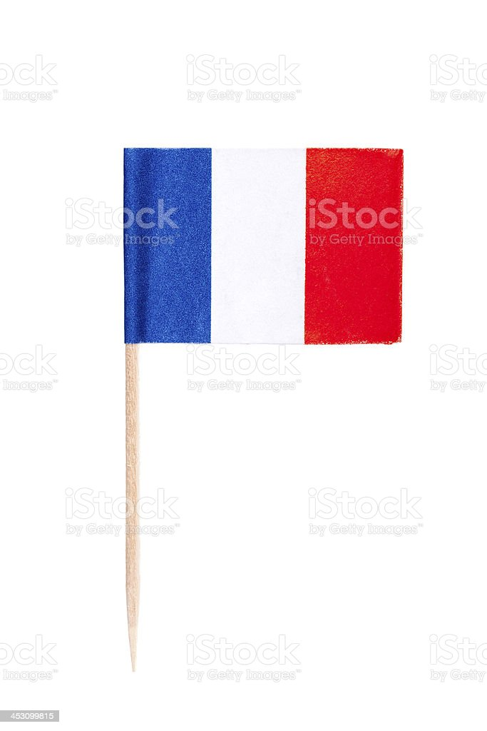 French paper flag stock photo