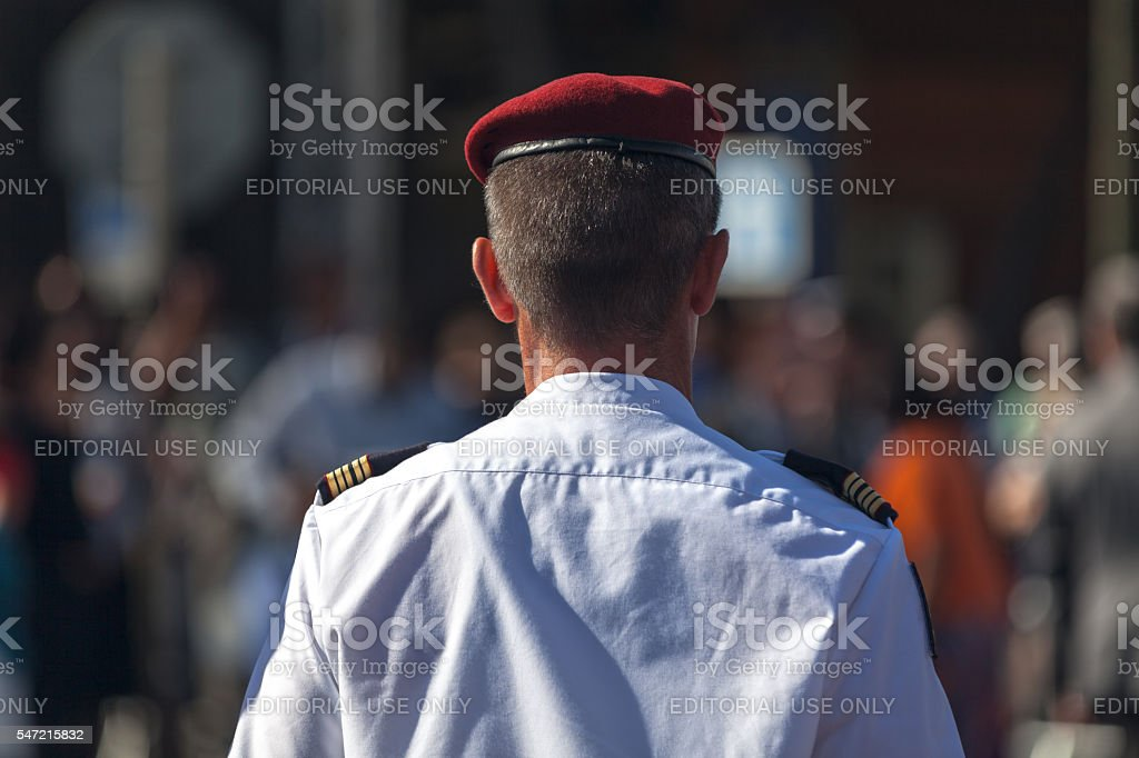 French Paratrooper stock photo