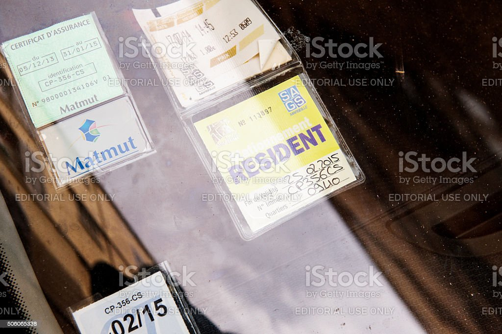 French parking ticket stock photo
