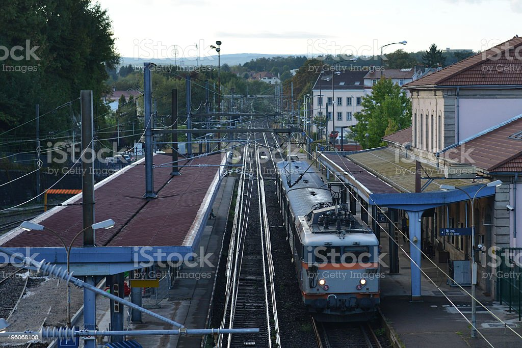 French Passenger Train Montbeliard stock photo
