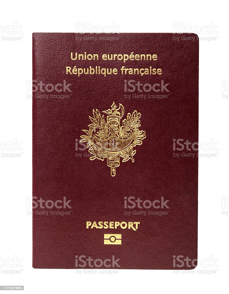 French Passport stock photo