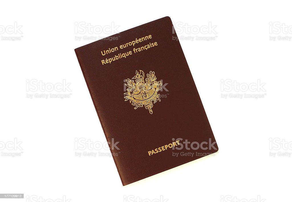 French Passport royalty-free stock photo