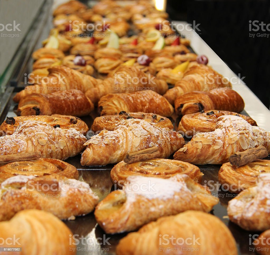 French Pastries. stock photo