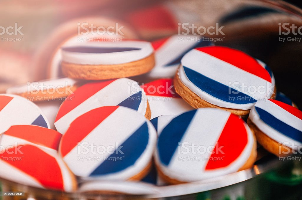 French pastry cookies stock photo