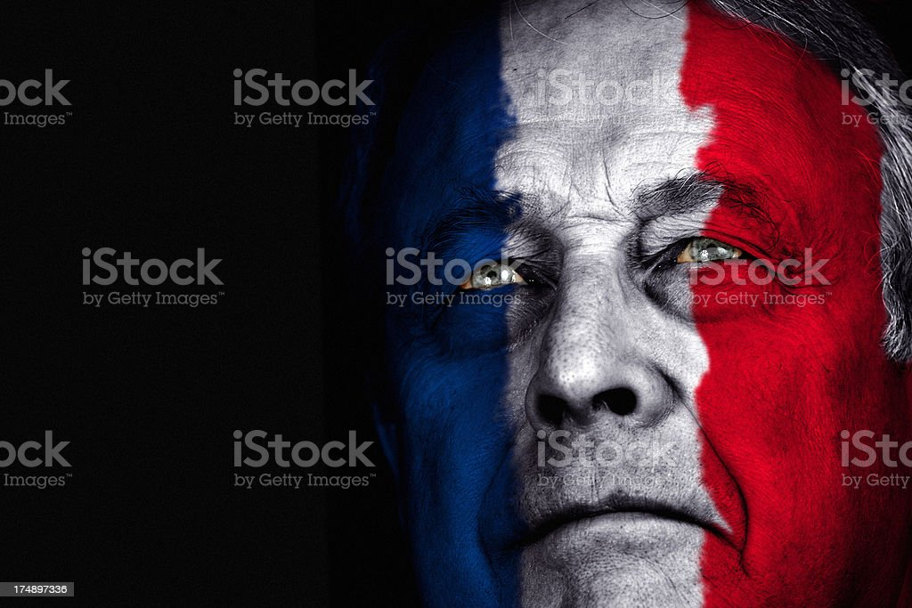 French Patriot royalty-free stock photo
