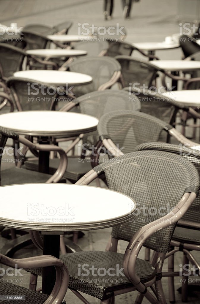 French pavement cafe royalty-free stock photo
