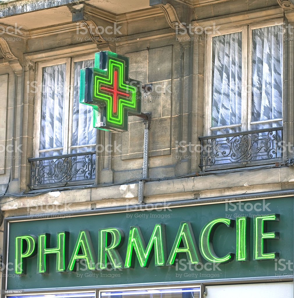 French pharmacy stock photo