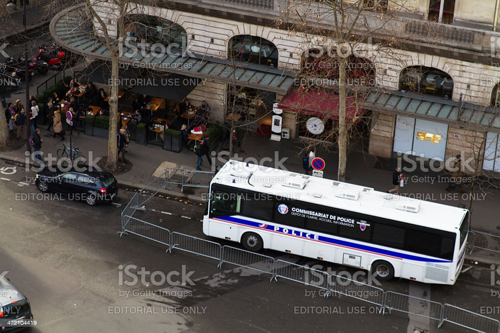French police, bus, Tourism, pickpocket stock photo