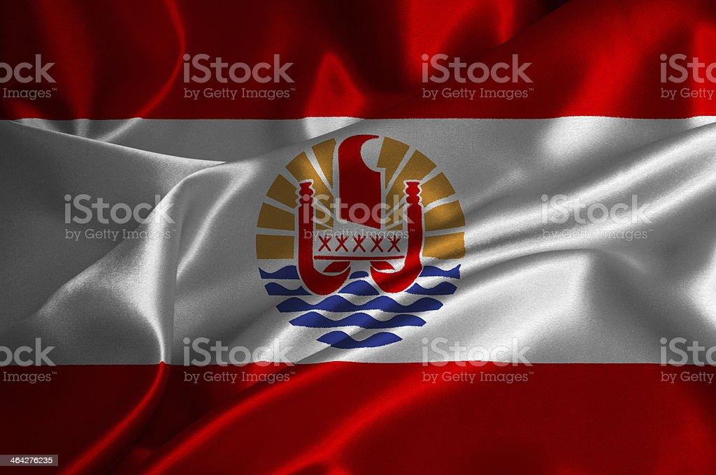 French Polynesia flag stock photo