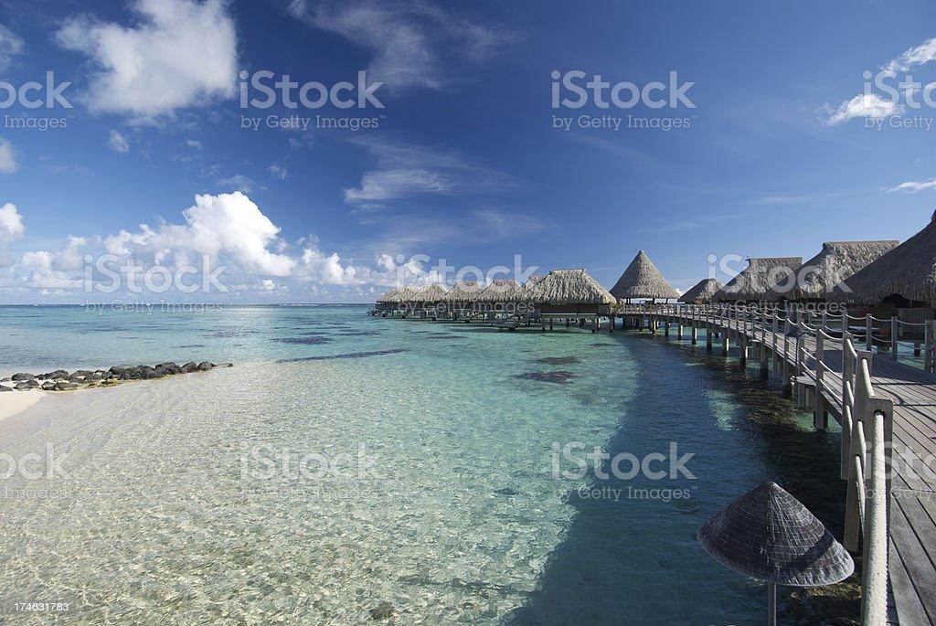 French Polynesia Vacation stock photo