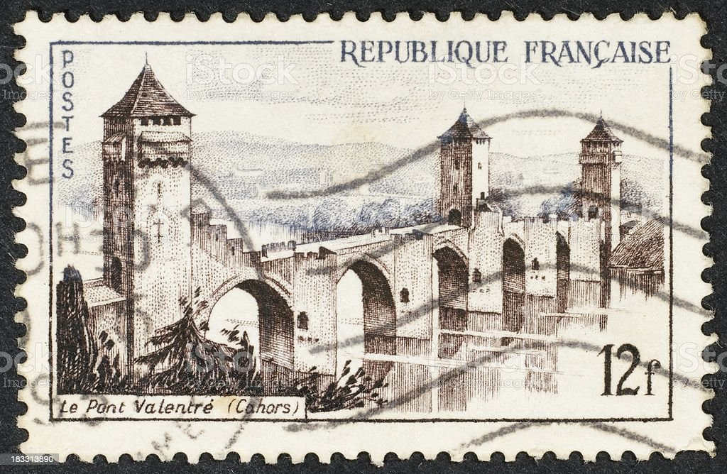 French Postage Stamp stock photo