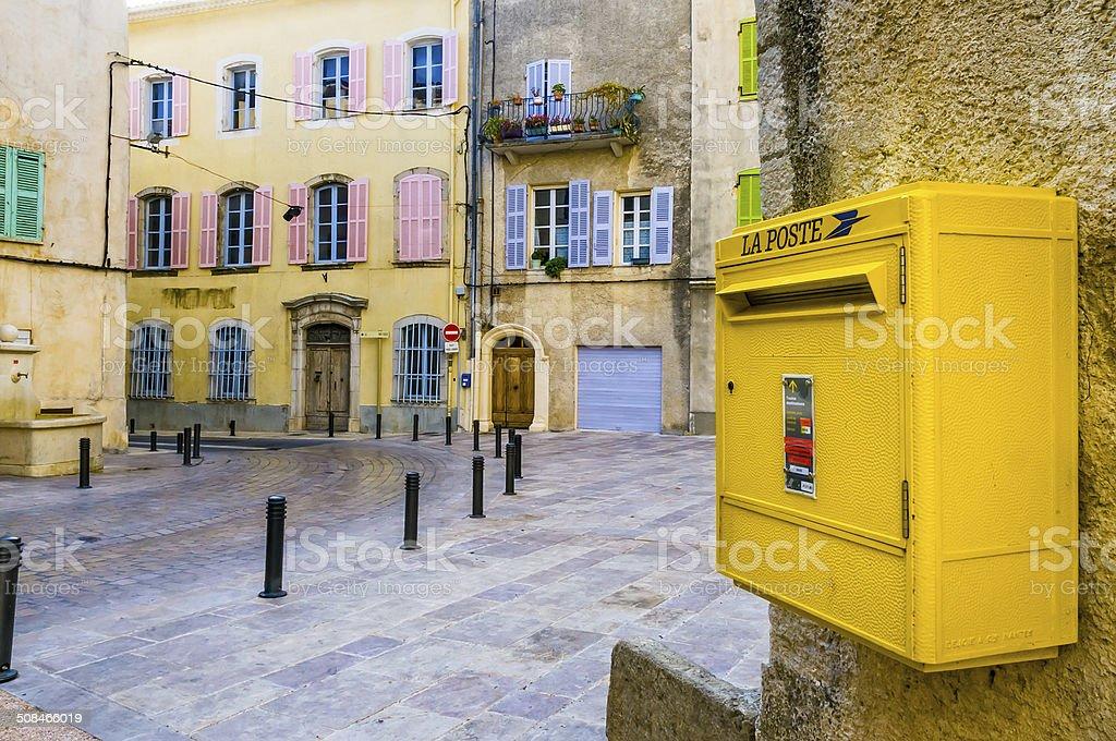 French Postbox stock photo