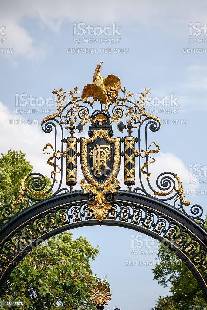French presidential portal Elys?es stock photo