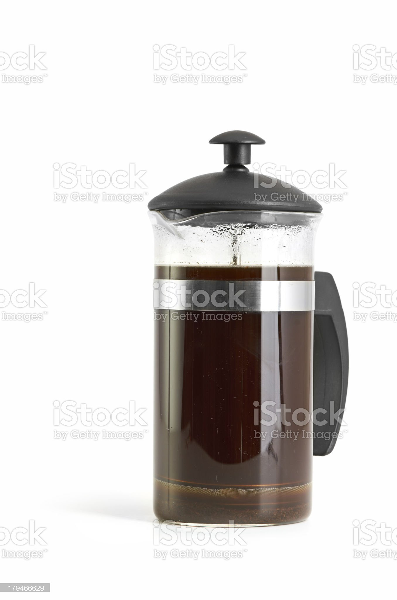 French press coffee maker royalty-free stock photo