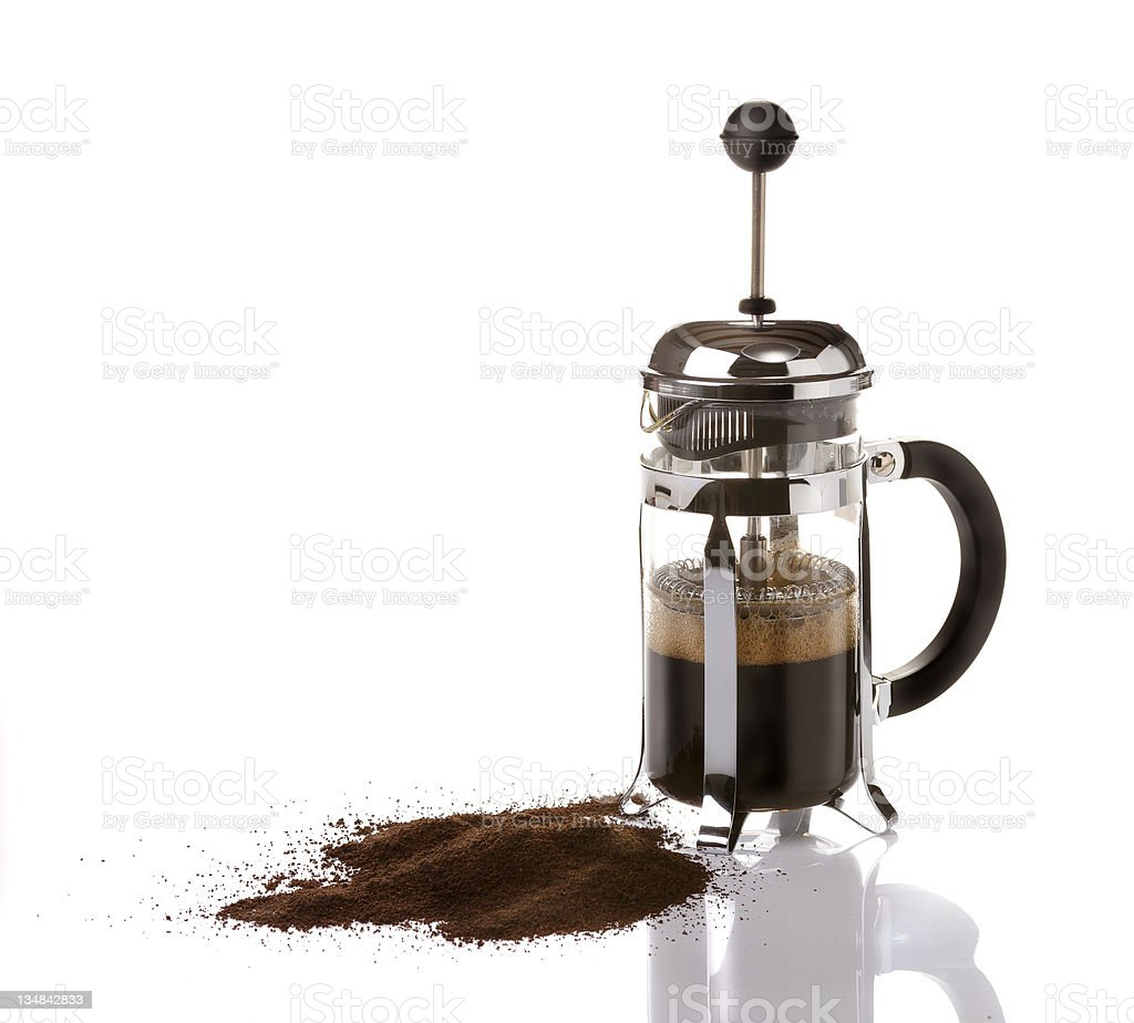 French Press Coffee royalty-free stock photo