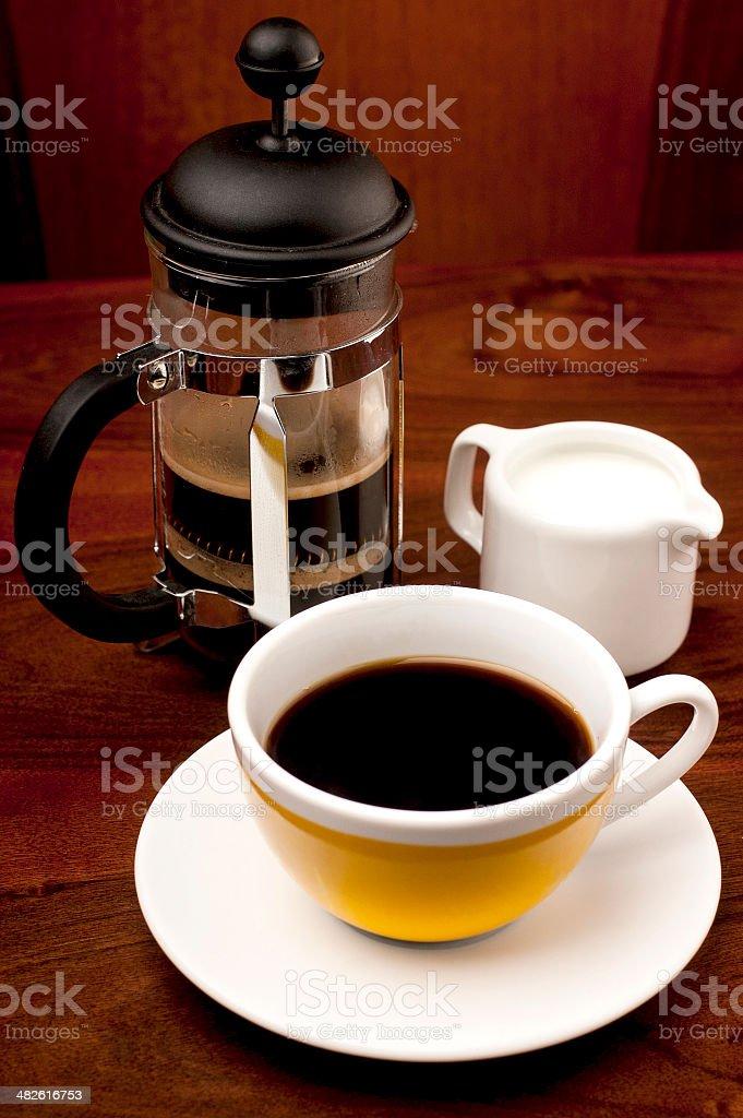 프렌치 프레스 커피 royalty-free 스톡 사진